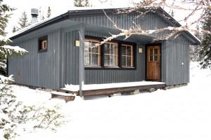 Stuga i vinterskrud